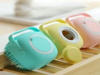 ليفة الاستحمام للاطفال او للكبار  مصنوعة من السيليكون لتنظيف الجسم أثناء الاستحمام