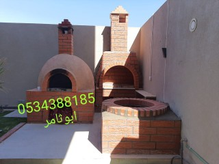 فرن بيتزا 0534388185 افران مخابز بناء افران فرن حجري منزلي بناء فرن حجري