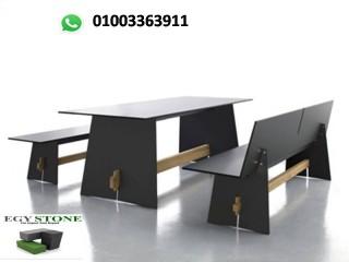 ترابيزات وكراسي كومباكت من ايجي ستون