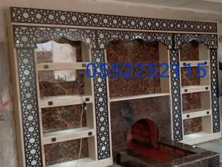 مشبات حديثة مشبات تراثية مشبات رخام مشبات خشب 0552252115 مغاسل رخام